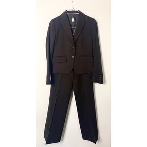 J Crew size 0/2 Petite Brown Wool Pants Suit